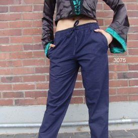Leonardo Carbone Pantalones de algodón Alin, azul