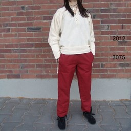 Cotton trousers Alin, red