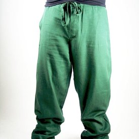 Trousers with buttons, green