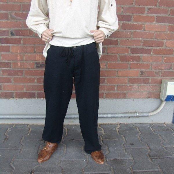 Pantaloni con bottoni, nero