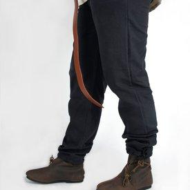 Broek met knopen, zwart