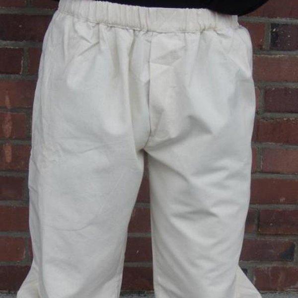 Pantalon trois-quarts, crème