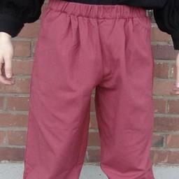 Pantaloni a tre quarti, rosso