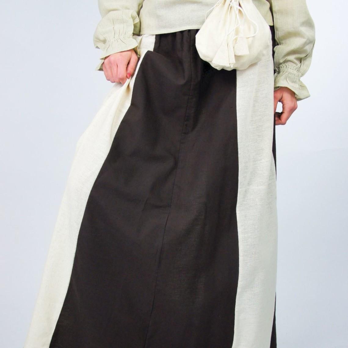 Leonardo Carbone Spódnica Inge, ciemno brązowo-kremowy