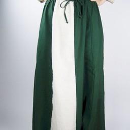 Kjol Inge, grön-kräm