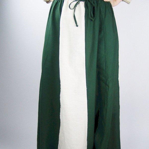 Skirt Inge, green-cream