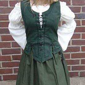 Renaissance kjol, grön