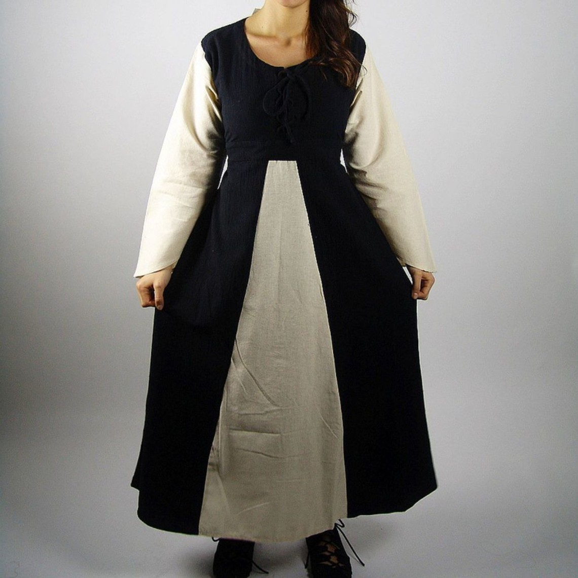 Leonardo Carbone Vestido Marigold, negro-crema