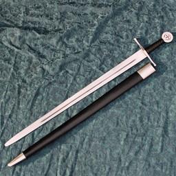 Medieval Templar sword Godfrey of Bouillon, battle-ready (blunt 3 mm)