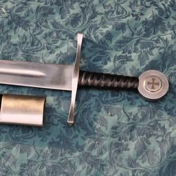 Medieval Templar Schwert Gottfried von Bouillon, battle-ready (stumpf 3 mm)