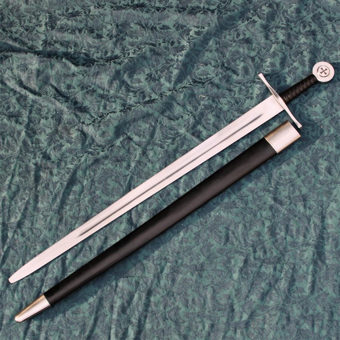 Windlass Steelcrafts Templerschwert kampfbereit mit Lederscheide