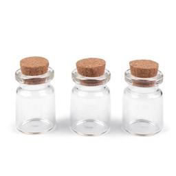 Glazen flesje met kurk 3,4 cm