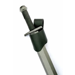 Leder Schwerthalter schwarz, Viking und mittelalterliche Schwerter