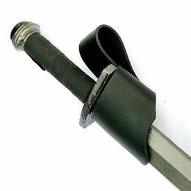 titular de la espada de cuero negro, vikingo y espadas medievales