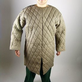Long gambeson, brown green