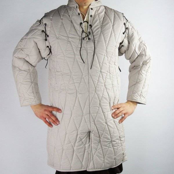 Gambeson with removable sleeves, cream