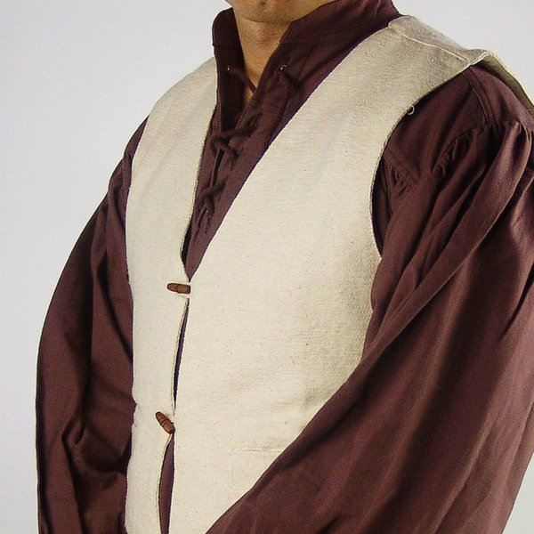 17th century doublet with buttons, cream