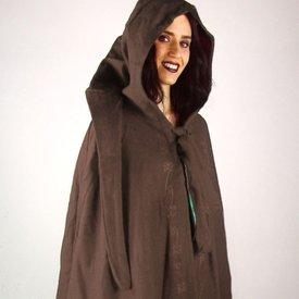 Manteau brodé Damia avec péroné, marron
