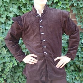 Leonardo Carbone 16th century doublet with removable sleeves, brown