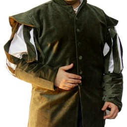 Jacket with open sleeves, green