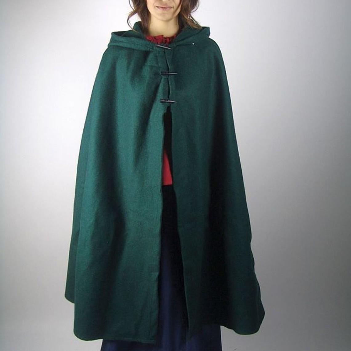 Leonardo Carbone Wełniany płaszcz Felis, zielony