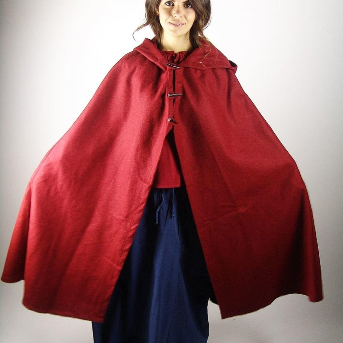 Leonardo Carbone Capa de lana Felis, rojo