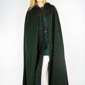 Manteau brodé Damia avec péroné, vert