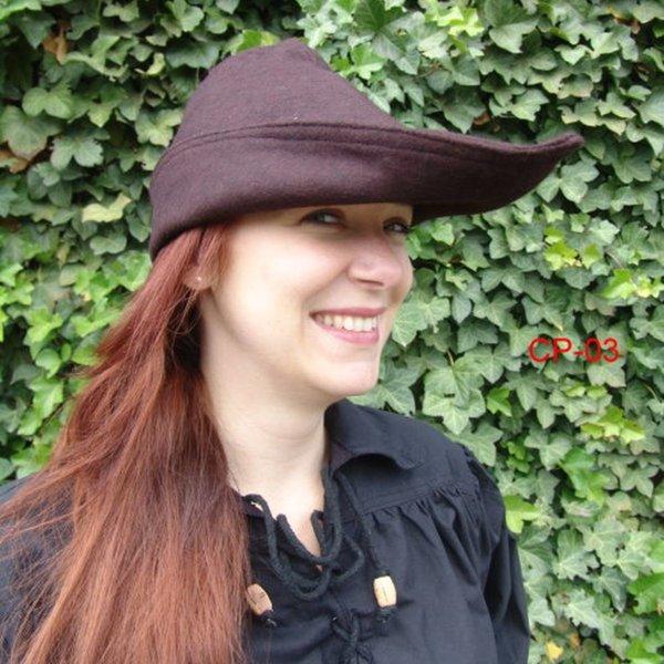 Robin hoed, leer, bruin