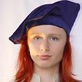 Leonardo Carbone Fluwelen baret, blauw