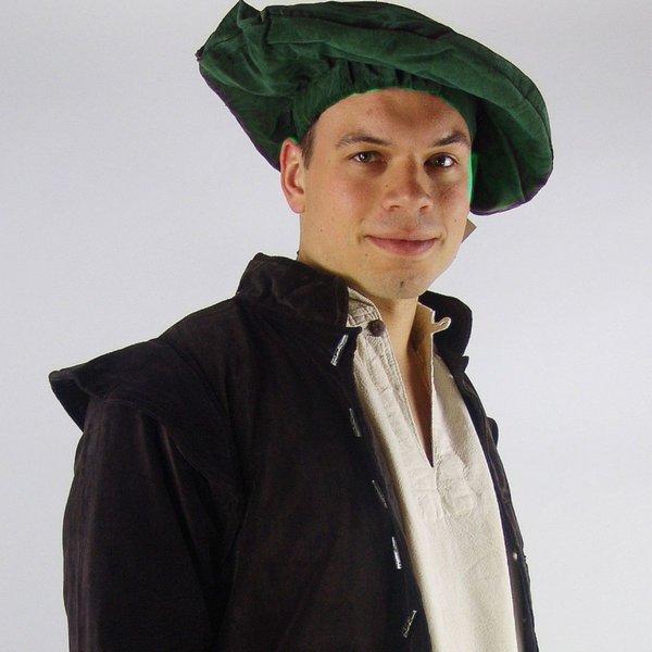 Leonardo Carbone Aksamitny beret, zielony