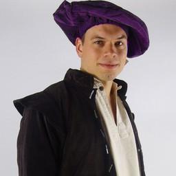 Aksamitny beret, fioletowy
