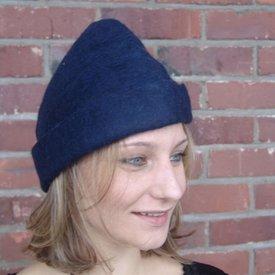 Leonardo Carbone Hat med fjer, blå