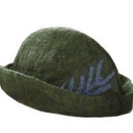 Leonardo Carbone Chapeau à plume, vert