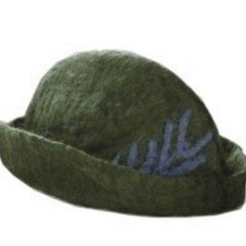 Leonardo Carbone Hoedje met veer, groen