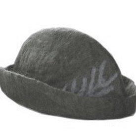 Leonardo Carbone Sombrero con pluma, gris