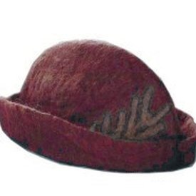 Leonardo Carbone Hoedje met veer, rood