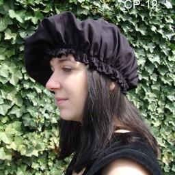17th century cap, black