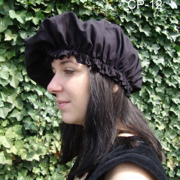17th century cap, black