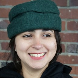 Filcowy kapelusz, zielony