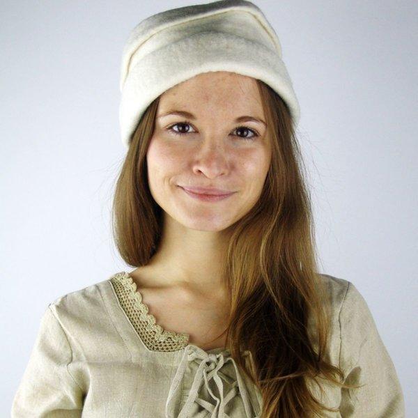Felt hat, white