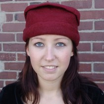 Felt hat, red