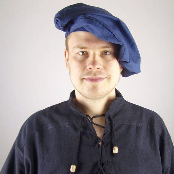 Béret de coton, bleu