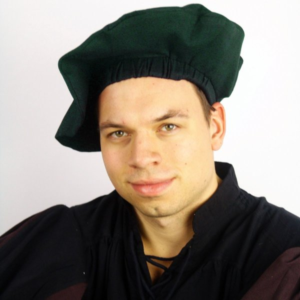 Cotton beret, green