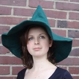 Czarownice kapelusz, zielony