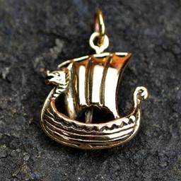 Statek wikingów z brązu