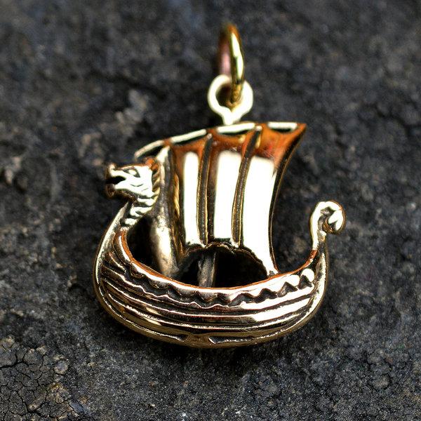 Wikingerschiff aus Bronze
