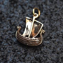 Viking fartyg gjord av brons