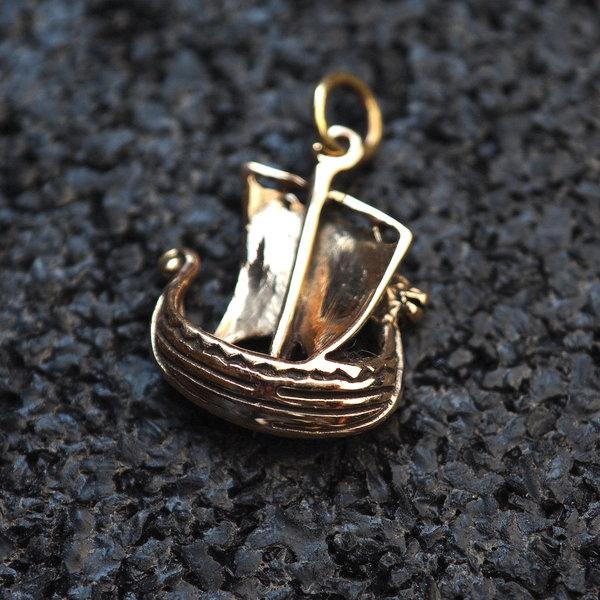 Viking skib lavet af bronze