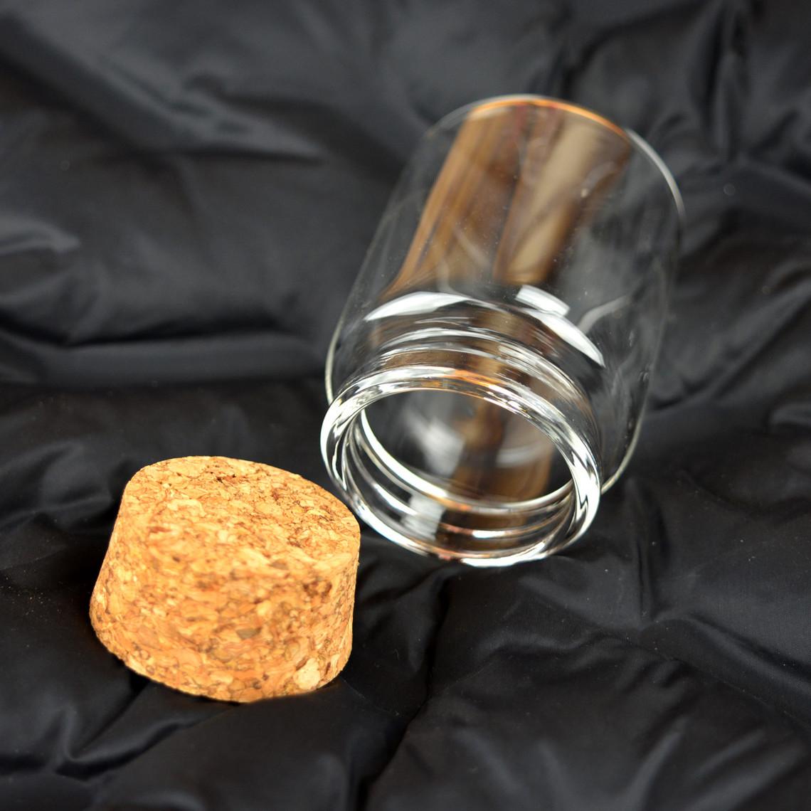 Barattolo di vetro rotondo