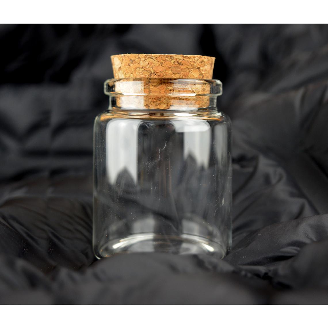 Tarro de cristal redondo